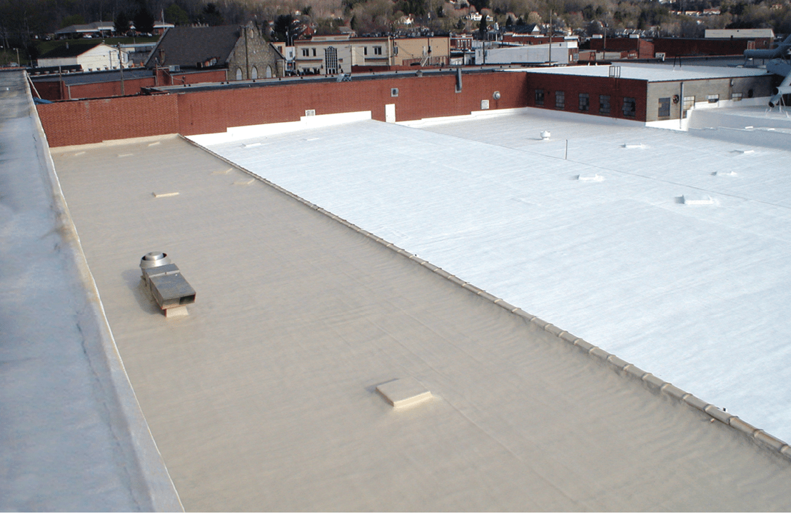 Spray Foam Roofing System roof project